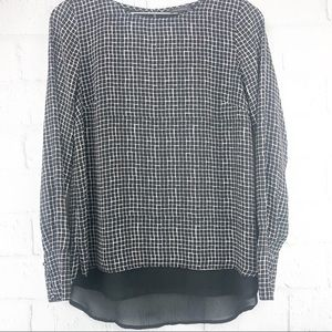 The Limited Black & White Checkered Blouse - XS